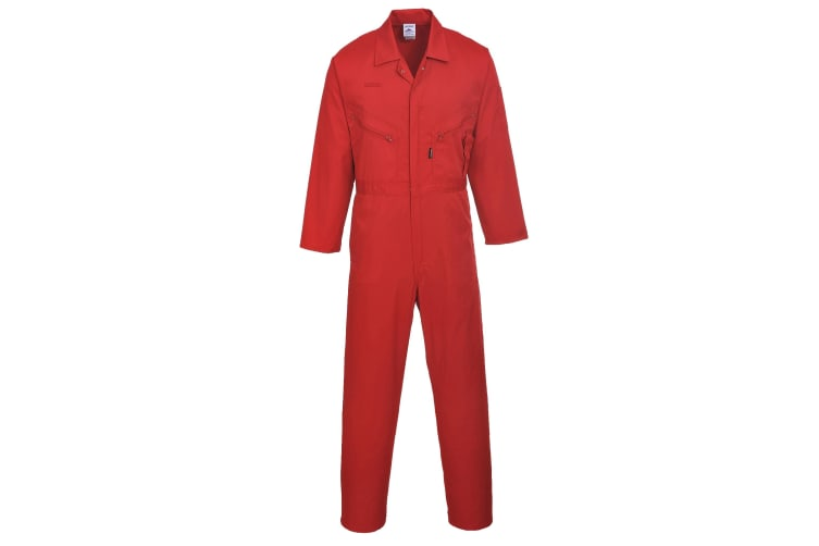 Portwest Mens Liverpool-zip Workwear Coverall (Red) (Extra Large x Regular)