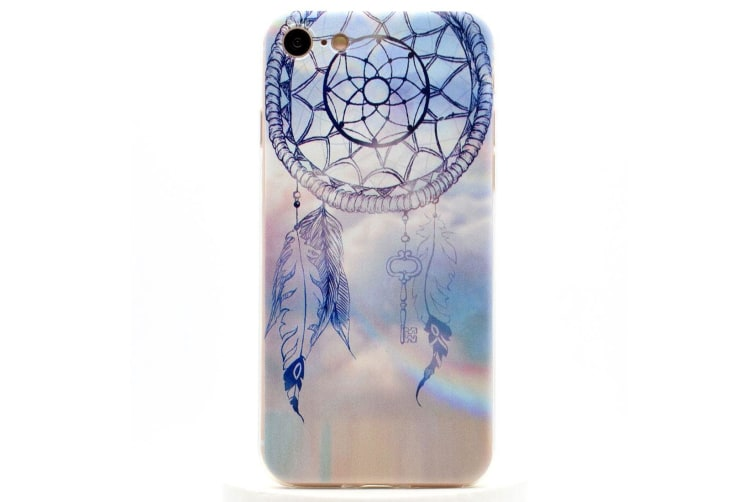 For iPhone 8 7 Case Stylish Dreamcatcher Grippy Durable Protective Cover Blue