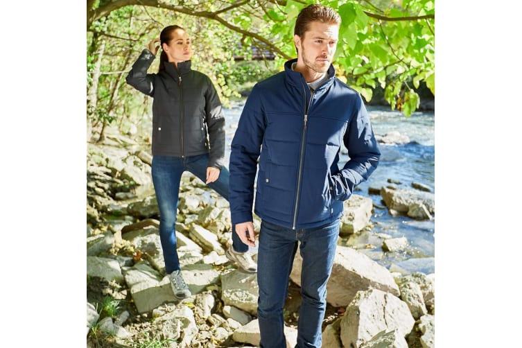 Slazenger Mens Bouncer Insulated Jacket (Navy) (XL)
