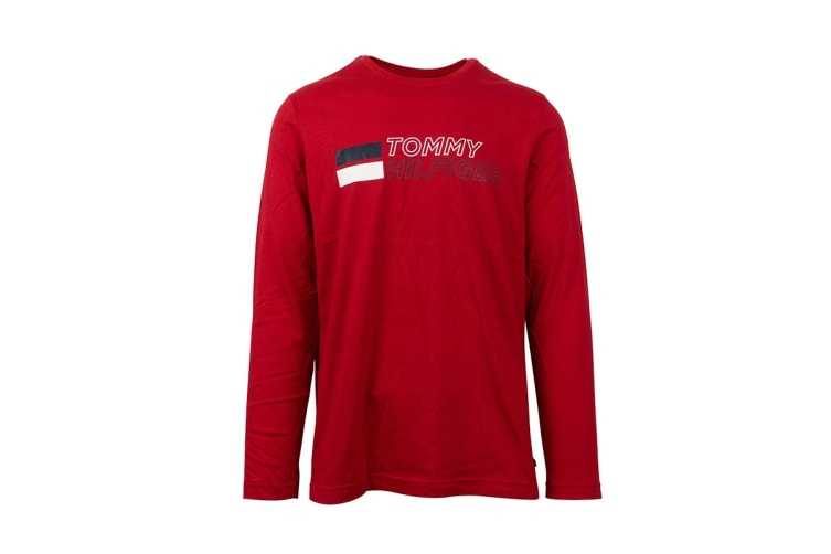 Tommy Hilfiger Men's Long Sleeve Graphic Tee (Turnip, Size XL)