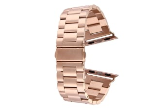 Rose Gold For Apple Watch (42mm) Butterfly Stainless Steel Watch Strap