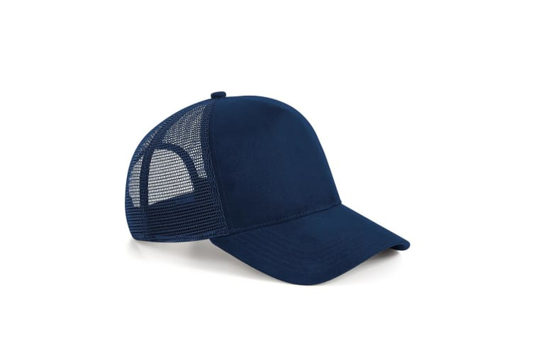 Beechfield Suede Snapback Trucker Cap (French Navy) (One Size)