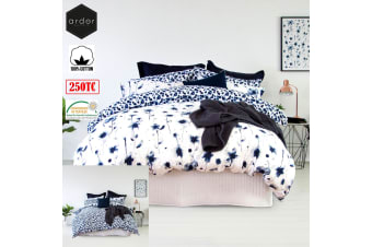 Inca Blue Reversible Quilt Cover Set King