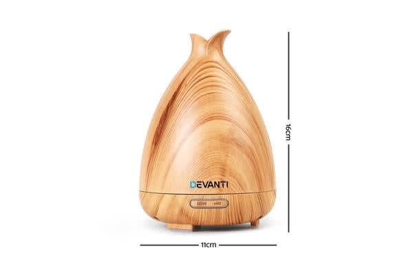 DEVANTi Aroma Aromatherapy Diffuser LED Essential Oil Air Humidifier Purifier LW