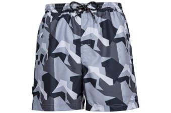 Trespass Mens Chiggers Mid Length Swim Shorts (Black Camo)