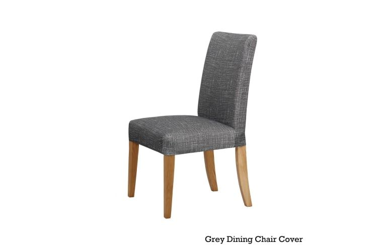 Easy Fit Stretch Dining Chair Cover Grey by Home Innovations