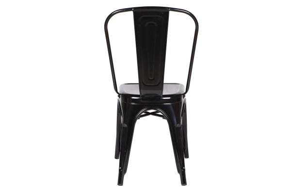 Ovela Set of 4 Tolix Replica Dining Chairs (Black)