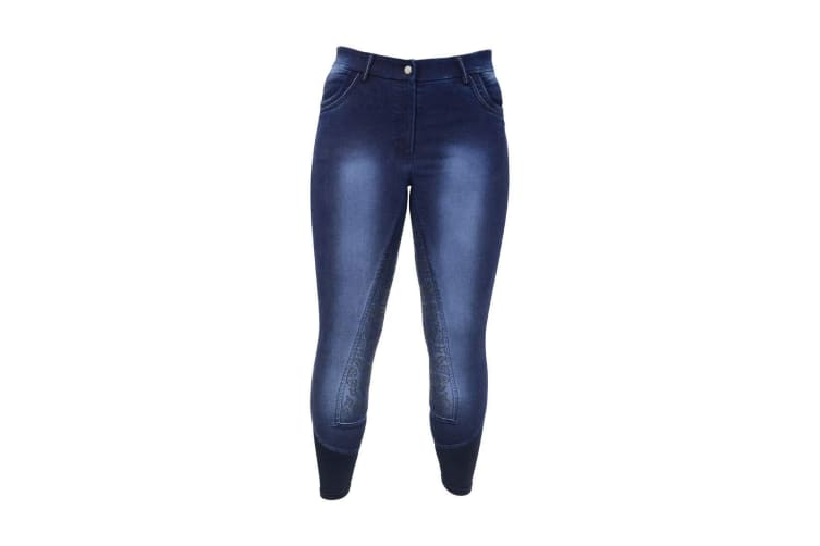 HyPERFORMANCE Womens/Ladies Cheltenham Denim Look Breeches (Washed Denim) (34in)