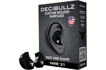 Decibullz Custom Molded Earplugs Nrr 31db