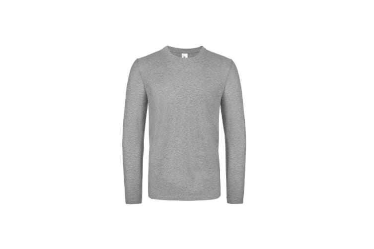 B&C Mens #E150 Long Sleeve T-Shirt (Sport Grey) (M)