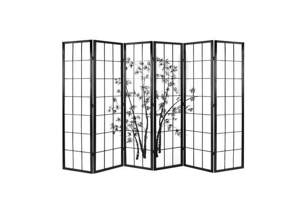 Artiss 6 Panel Room Divider Screen Privacy Foldable Pine Wood Stand Shoji Bamboo