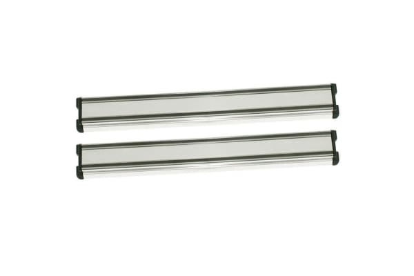 2x Appetito 30cm Aluminium Magnetic Kitchen Utensil Holder Rack for Knife Knives