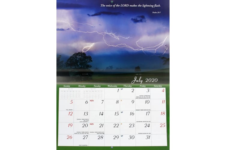 His Word - 2020 Rectangle Wall Calendar 14 Months New Year Christmas Decor Gift