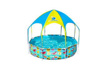 Bestway Swimming Play Pool Above Ground Steel Pro Mist Shade