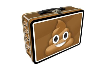 Poop Emoji Tin Carry All Fun Box
