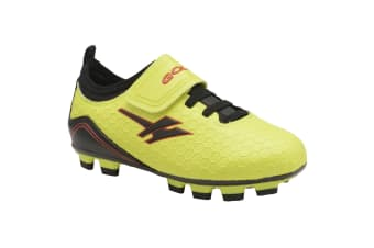 Gola Sport Childrens Boys Apex Blade Touch Fastening Football Training Boots (Volt/Black)