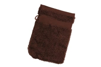 Jassz Travel Washing Glove/Bag (350 GSM) (Pack of 2) (Chocolate)