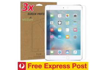 "[3 Pack] Apple iPad Mini 7.9"" Ultra Clear Film Screen Protector by MEZON – Face ID Compatible, Case and Pencil Friendly (iPad Mini 7.9"", Clear) – FREE EXPRESS"