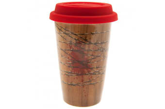 The Walking Dead Ceramic Travel Mug (Red/Brown) (One Size)