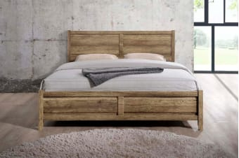 Alice Bed Frame (Queen/Oak)