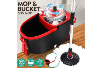 360 degree Spinning Mop & Wheeled Bucket Set