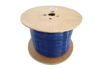 8WARE Cat6A Underground/External Cable Roll 350m Blue Bare Copper Twisted Core