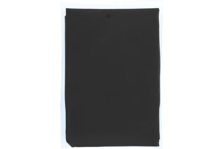 Bullet Ziva Adults Unisex Disposable Rain Poncho With Pouch (Solid Black) (90 x 120cm)