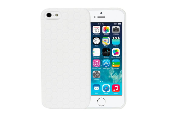 Honeycomb Case for iPhone 5/5s/SE (White)