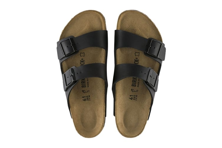 Birkenstock Unisex Arizona Birko-Flor Regular Fit Sandal (Black, Size 42 EU)