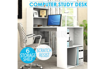 Corner Writing Desk Office laptop/ Computer Table Storage Shelf Cabinet RRP$379