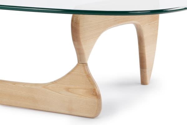 Ovela Noguchi Replica Glass Coffee Table (Natural)