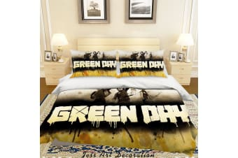 3D Rock Band Green Day Quilt Cover Set Bedding Set Pillowcases 50
