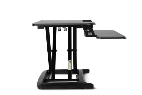Ergolux Pro Height Adjustable Sit Stand Desk Riser (Medium, Black)