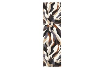 Crossroads Designer Wool Runner Rug Brown White Grey