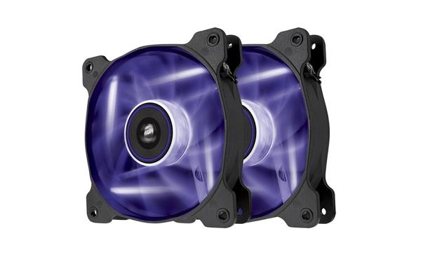 Corsair SP 140mm Fan with Purple  LED High Pressure Twin Pack!
