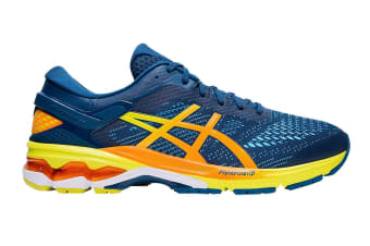 ASICS Men's Gel-Kayano 26 Running Shoe (Mako Blue/Sour Yuzu)