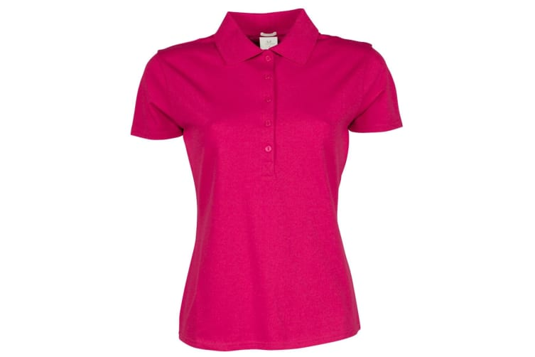 Tee Jays Womens/Ladies Luxury Stretch Short Sleeve Polo Shirt (Hot Pink) (S)