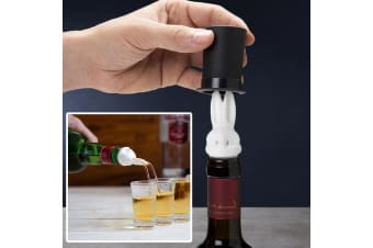 Cute Barney Bunny 2-in-1 Double Pourer Stopper Wine Aerator