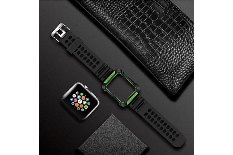 For Apple Watch Series 4 40mm Armour Watch Strap  Green Band Protective Cover