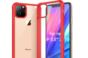 Select Mall Drop Protection Cover Acrylic Transparent Mobile Phone Case Compatible with Series IPhone 11 Case-Red Iphone11 Pro Max 6.5 inch