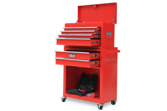 BULLET Tool Kit Chest Cabinet Box Set Storage Wheels Metal Rolling Drawers Steel Red