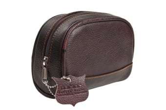 Parker Leather Travel Toiletry Bag