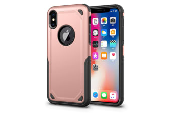 For iPhone XS Max Cover Shockproof Rugged Armour Shield Mobile Case Rose Gold