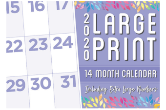 Large Print - 2020 Rectangle Wall Calendar 14 Months by Biscay (A)