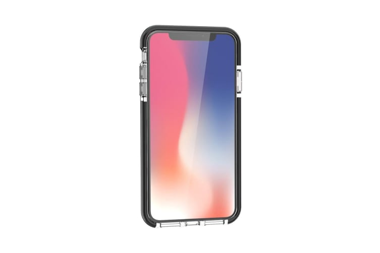 For iPhone XS MAX Cover Soft Thin Shockproof Phone Case Black Edges Transparent
