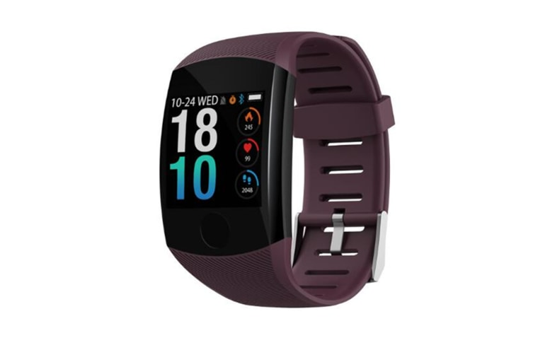 WJS 1.3inch Color Screen Blood Pressure Heart Rate Monitor Sport bluetooth Smart Wristband Watch-PURPLE