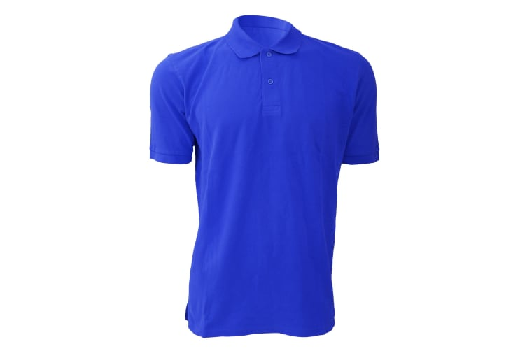 Russell Mens 100% Cotton Short Sleeve Polo Shirt (Bright Royal) (2XL)