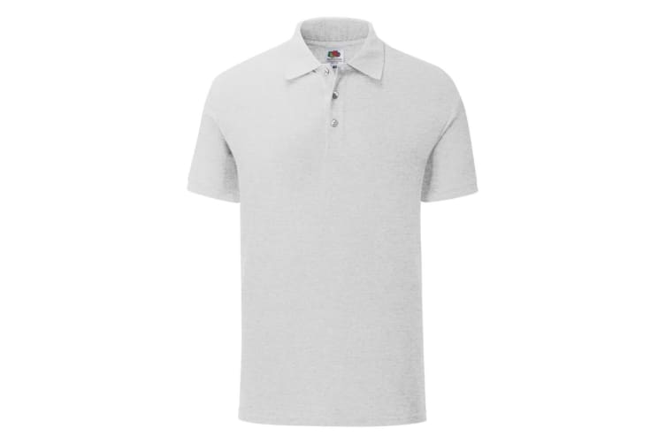 Fruit Of The Loom Mens 65/35 Tailored fit polo (Heather Grey) (3XL)