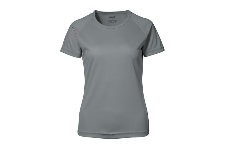 ID Womens/Ladies Game Active Short Sleeve Fitted T-Shirt (Grey) (L)