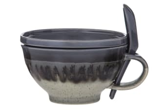 Davis & Waddell Ritual Reactive Soup Mug Grey 500ml 3-Piece Set